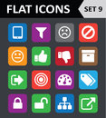 Universal colorful flat icons set Stock Images
