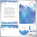 Universal dark blue corporate identity template laboratory Royalty Free Stock Image