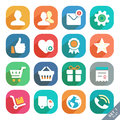 Universal flat icons icon set for web and mobile app profile favorites shopping service Royalty Free Stock Photo
