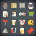 Universal flat icons for web and mobile set vector applications Stock Photo