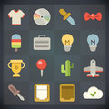 Universal flat icons for web and mobile set vector applications Royalty Free Stock Photography