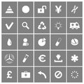 Universal flat vector icons set this is file of eps format Royalty Free Stock Photo