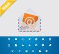 Universal glyphs 11. E-mail Royalty Free Stock Photo