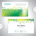 Universal greenish laboratory business card medical Stock Photography