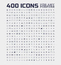 400 Universal Icons for Any Purpose Royalty Free Stock Photo