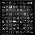 Universal icons in chalk doodle style Royalty Free Stock Photo