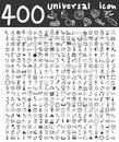 400 Universal icons hand drawn line art cute art illustration