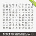 Universal icons for web and mobile vector Stock Photo