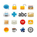 Universal and office icon set Royalty Free Stock Photos