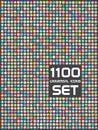 Universal set of 1100 icons