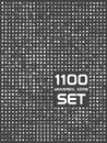 Universal set of 1100 icons Royalty Free Stock Photo