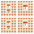 Universal set of wall calendar from September to December. Royalty Free Stock Photo