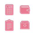 Universal sticker icons set Royalty Free Stock Photo