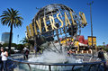 Universal studio the logo globe of the Stock Images