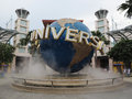 Universal studios globe globe,singapore sentosa, 。 Royalty Free Stock Photos