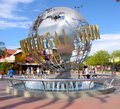 Universal studios the statue outside of the park in hollywood los angeles Stock Image