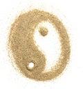 Universal symbol yin yang sculptured Royalty Free Stock Photo