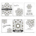6 universal templates with moroccan islamic ornament. Royalty Free Stock Photo