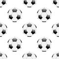 Universal vector football seamless patterns tiling sport theme with balls endless texture can be used for wrapper cover package Royalty Free Stock Image