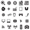 Universal web icons Stock Photography