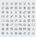 Universal web icons outline set of suitable for browsing and social media communication clearly layered and fully editable Royalty Free Stock Images