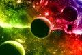 Universe galaxy nebula stars and planets Royalty Free Stock Image