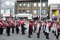 University Band in the Santa Parade Royalty Free Stock Photo