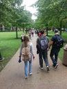 University Campus: Students Walking Between Class