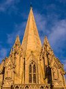University church of st mary the virgin oxford ornate spire against a blue sky engalnd uk Royalty Free Stock Photos