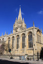 The university church of st mary the virgin oxford view from high street tothe oxfordshire england with spire showing up well Stock Photography