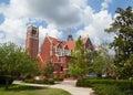 University of Florida Auditorium and Century tower Royalty Free Stock Photo