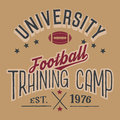 University football training camp Royalty Free Stock Photo