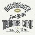University football training camp t-shirt Royalty Free Stock Photo