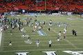 University of hawaii players and fans rush on the field to celeb honolulu hi november unlv vs uh celebrate win before game is Royalty Free Stock Photos