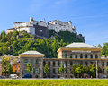 University and Hohensalzburg Fortress, Salzburg Royalty Free Stock Photos