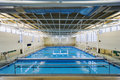 University indoor swimming pool modern at a Stock Photography