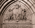 University of notre dame doorway over the east entrance the basilica the sacred heart at the Royalty Free Stock Photo