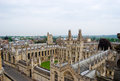 University of oxford view over the historic england Royalty Free Stock Images