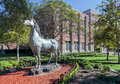 University of Southern California Traveler Horse Statue Royalty Free Stock Photo