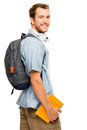 University student man back to school happy young Royalty Free Stock Photo