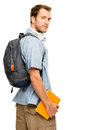 University student man back to school happy young Royalty Free Stock Image