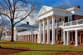 University of virginia academical village at the charlottesville Stock Photos