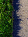 Unkempt grass edge bodering a path Stock Images