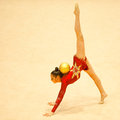 Unknown gymnast Stock Images