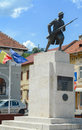 Unknown Soldier Statue in Union Square, Brasov, Romania. The monument dates from 1939 and is dedicated to the heroes of the First Royalty Free Stock Photo