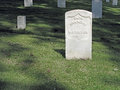 Unknown US Soldier Sunlit Headstone. Royalty Free Stock Photo