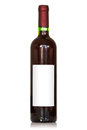 Unlabeled wine bottle white background Stock Photography
