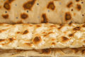 Unleavened bread of the jews named matza Royalty Free Stock Image