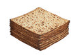 Unleavened bread stack of traditional jewish passover Royalty Free Stock Photography
