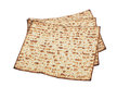 Unleavened bread stack of traditional jewish passover Stock Photo